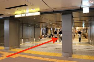 メトロ京橋駅線から行き方1