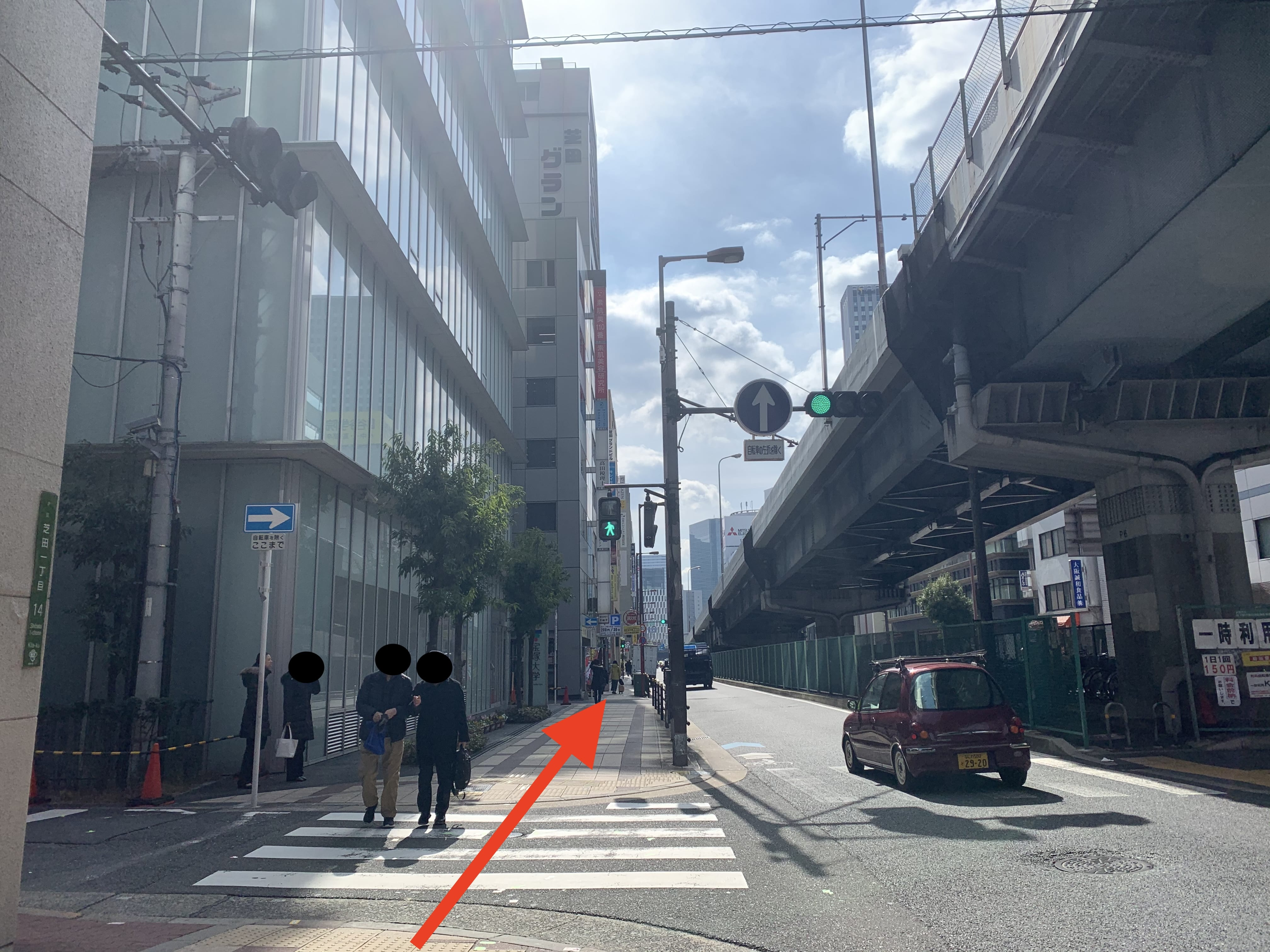 御堂筋線中津駅から行き方5