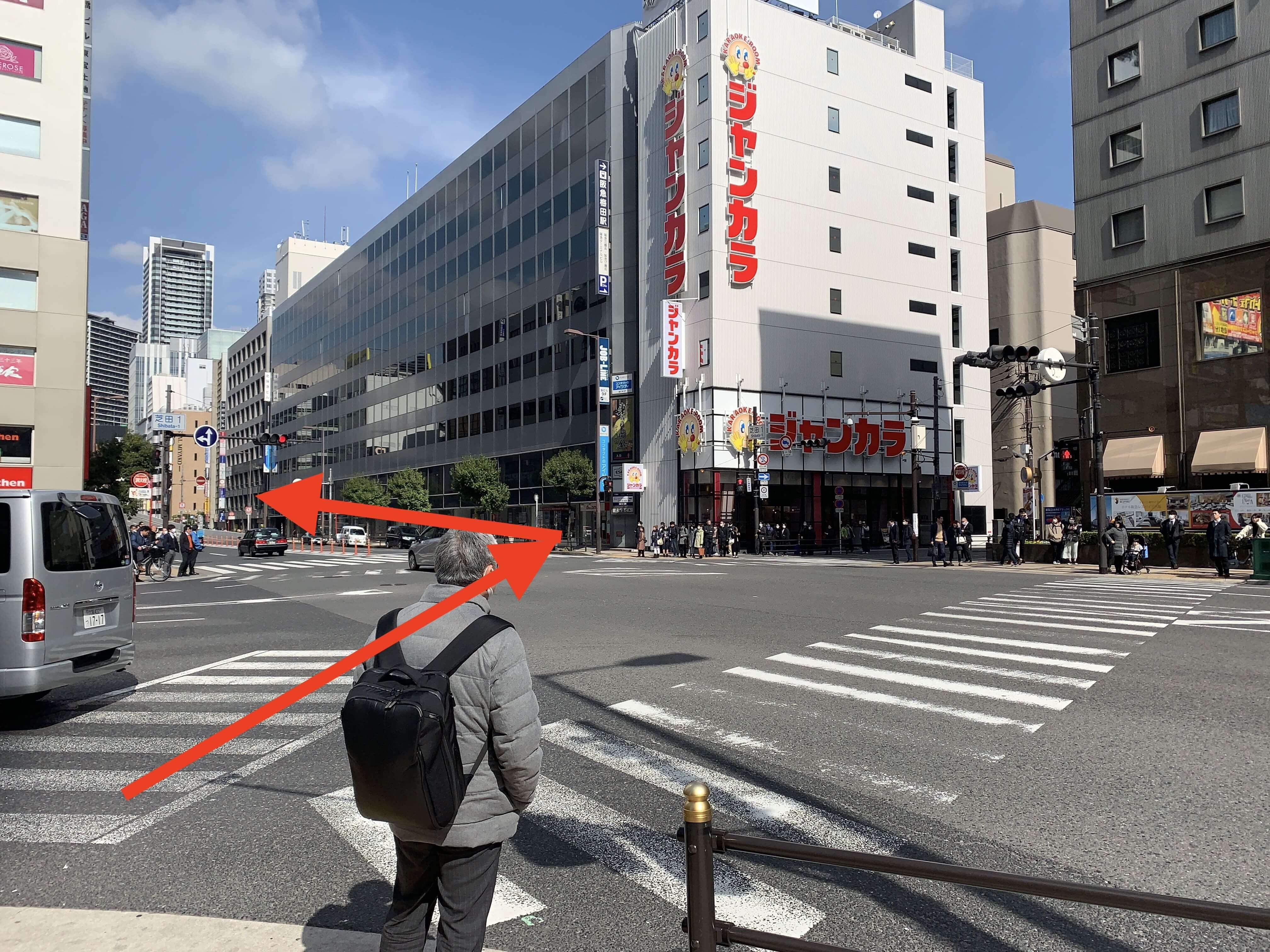 JR大阪駅・御堂筋線梅田駅から行き方5