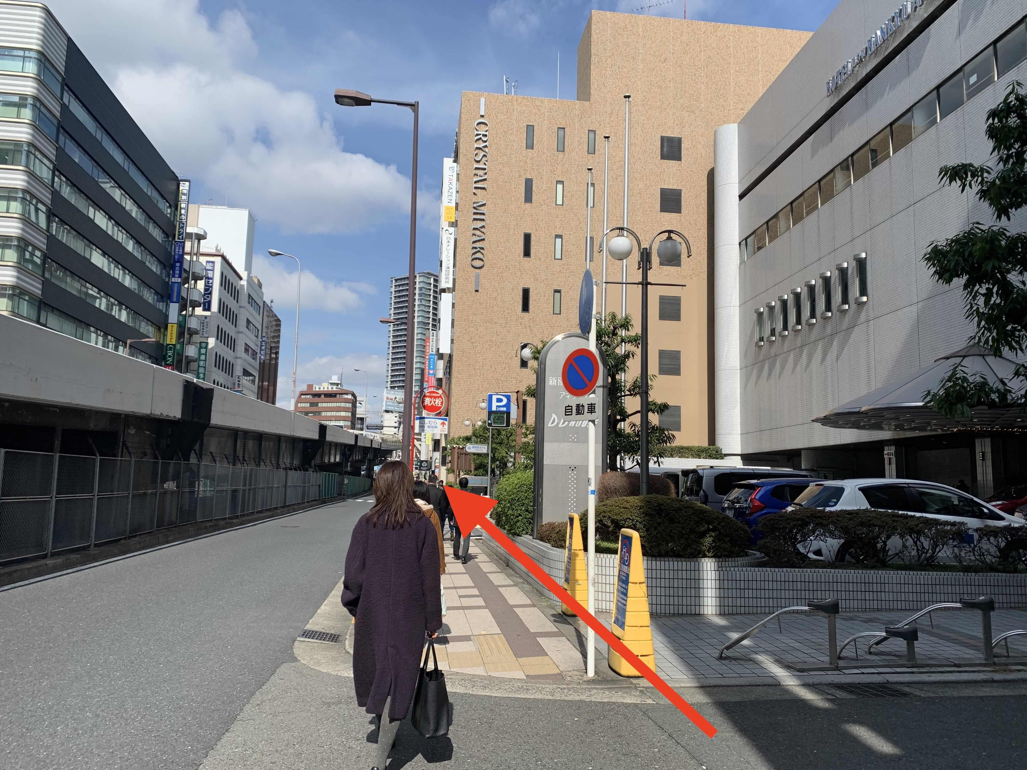 JR大阪駅・御堂筋線梅田駅から行き方6