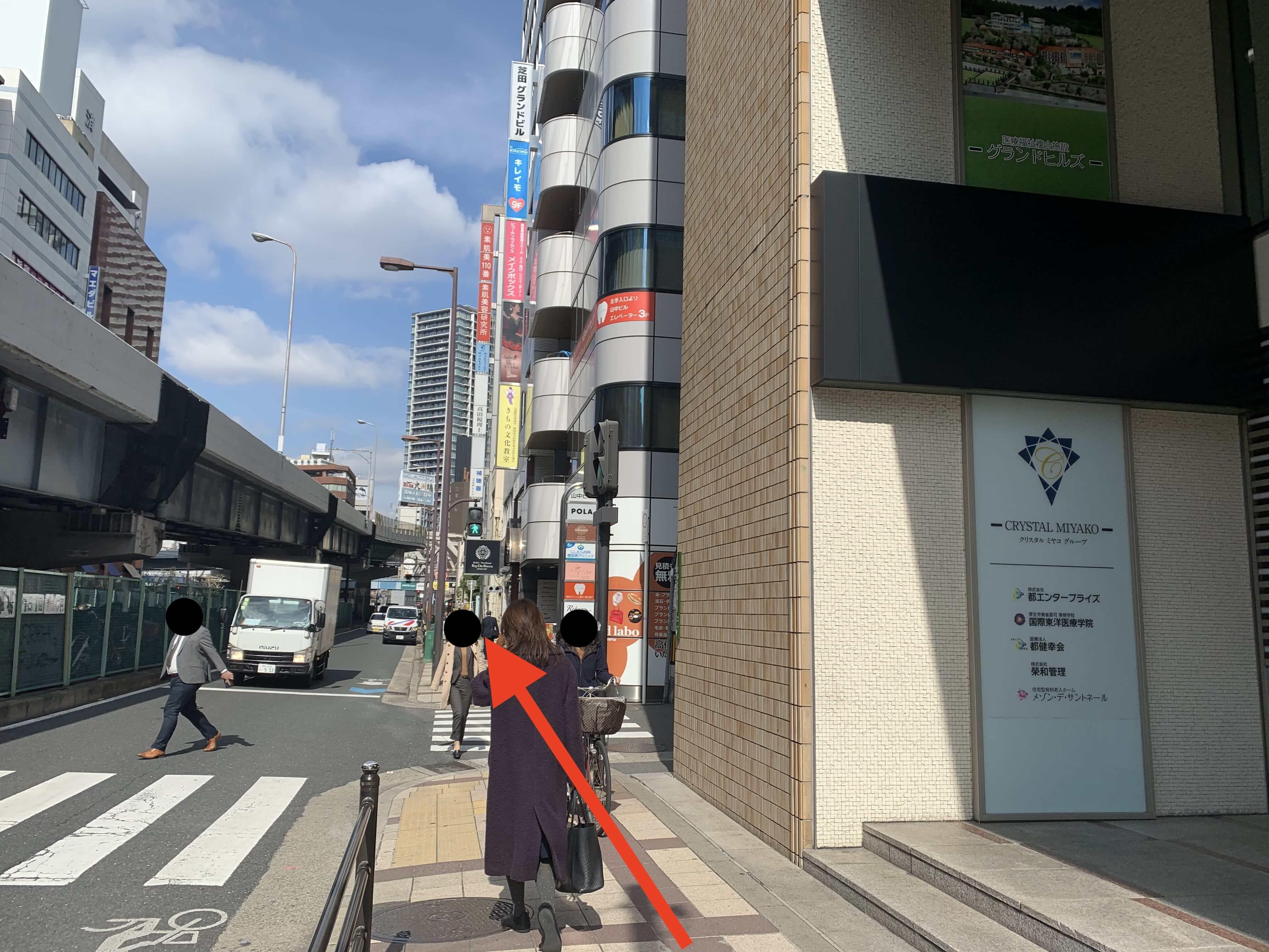 JR大阪駅・御堂筋線梅田駅から行き方7