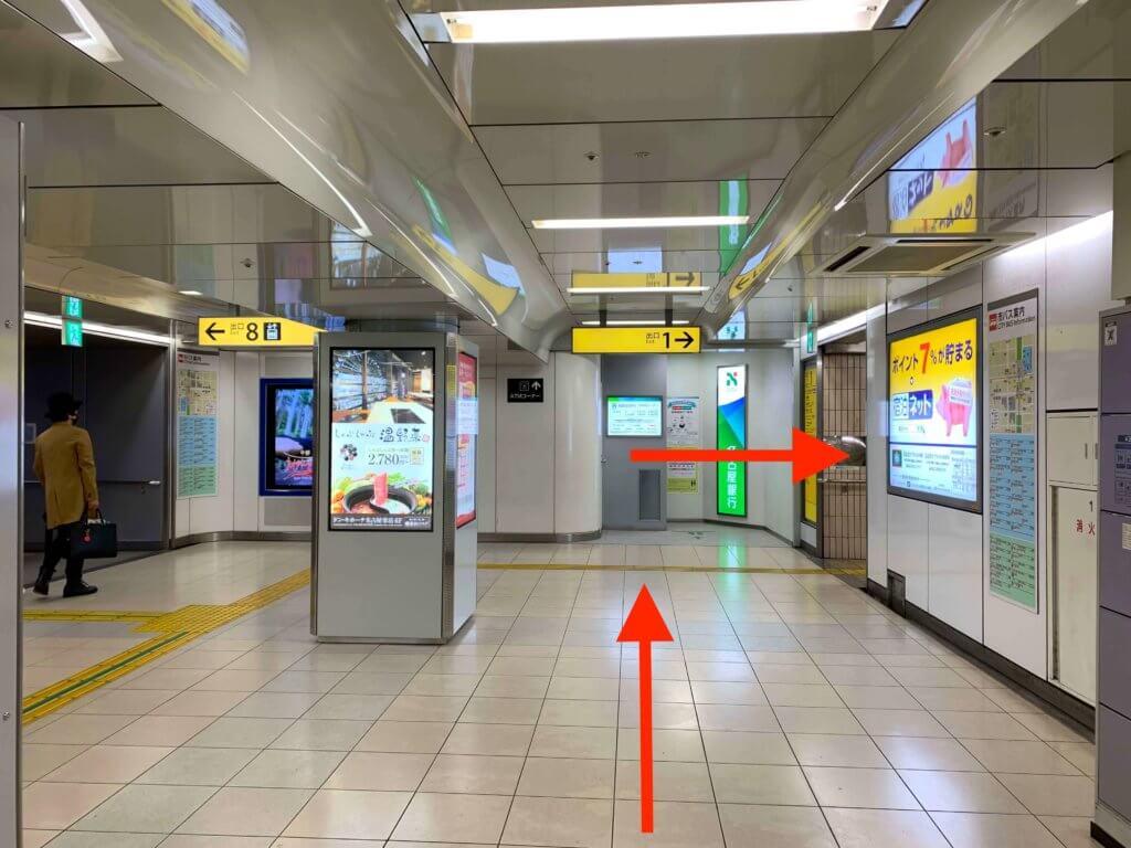栄駅から行き方2