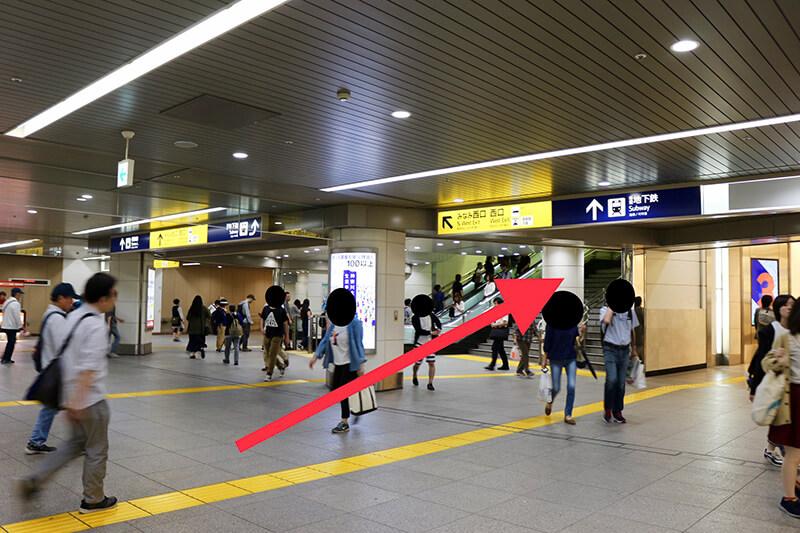 JR横浜駅から行き方2