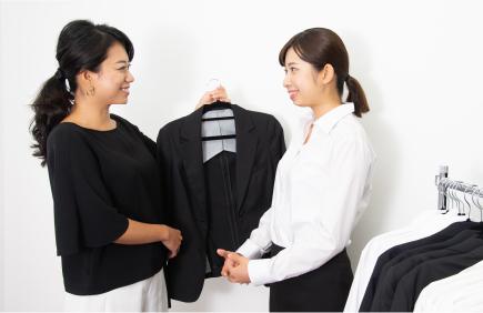 スーツ・ワイシャツ・ネクタイを無料レンタル画像